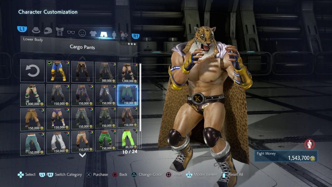 Tekken 7 King Character Customization Showcase 1080p 60fps Ps4