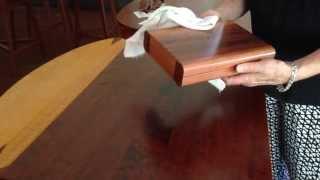 Quick Tip On Caring For Your Handcrafted Box
