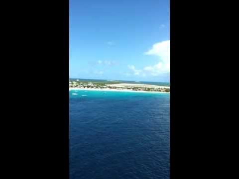 Leaving the port at Grand Turk in the Turks & Caicos Islands...Beautiful and Gorgeous 8.13.13