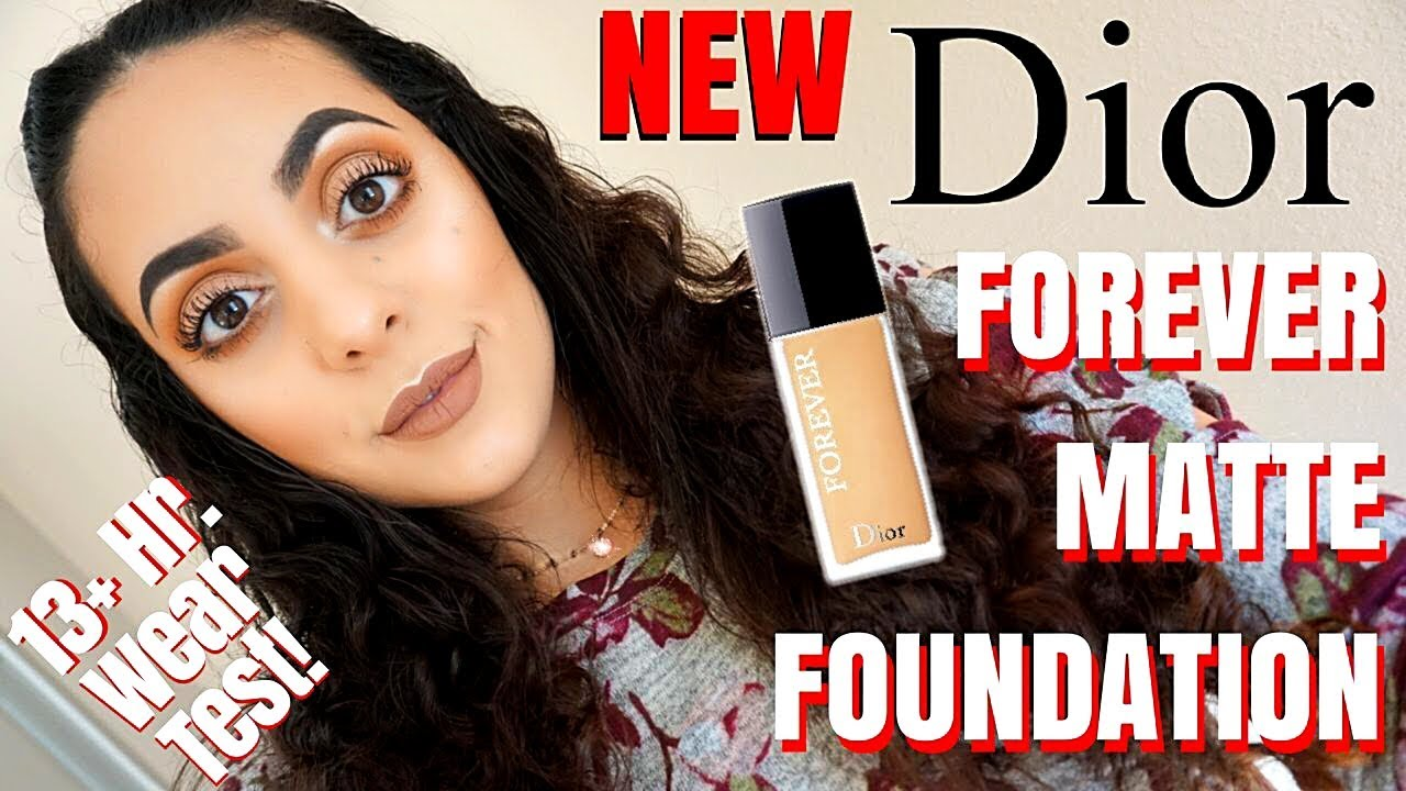9a371e543a NEW DIOR FOREVER 24 HOUR WEAR HIGH PERFECTION SKIN CARING MATTE FOUNDATION  | Review + Wear Test !