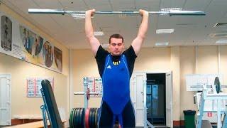 видео Тренировка дельт: жим штанги с груди стоя,  жим штанги из-за головы, наклонный жим штанги