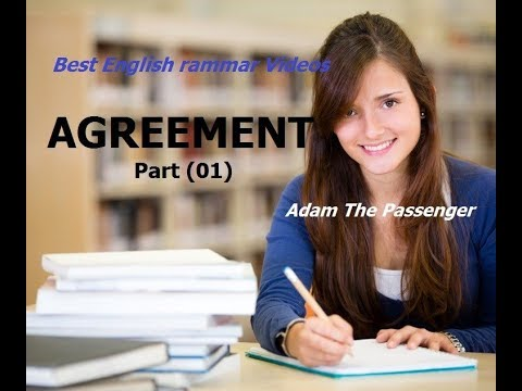 BEST English Grammar Videos. AGREEMENT(part 1) with exercises.