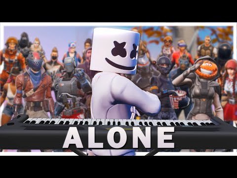 """24 Players Play """"Alone"""" On Fortnite Piano"""