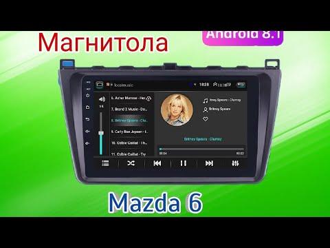 Обзор магнитолы Mazda 6