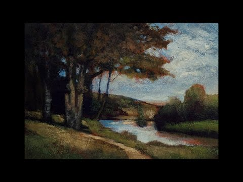 Study by M Francis McCarthy of Trees Near River by Edward Bannister