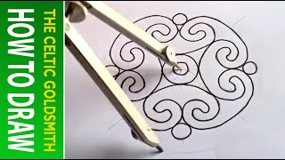 How to Draw Celtic Patterns 97 - Spiral Celtic Cross/Mandala 5of8