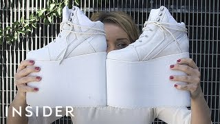We Tried Walking In Sky-High Platform Shoes thumbnail