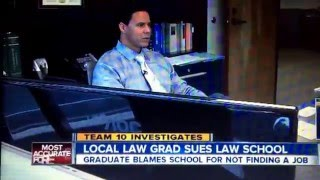 Brian Watkins talks to ABC 10 about the law school grad suing Thomas Jefferson Law School