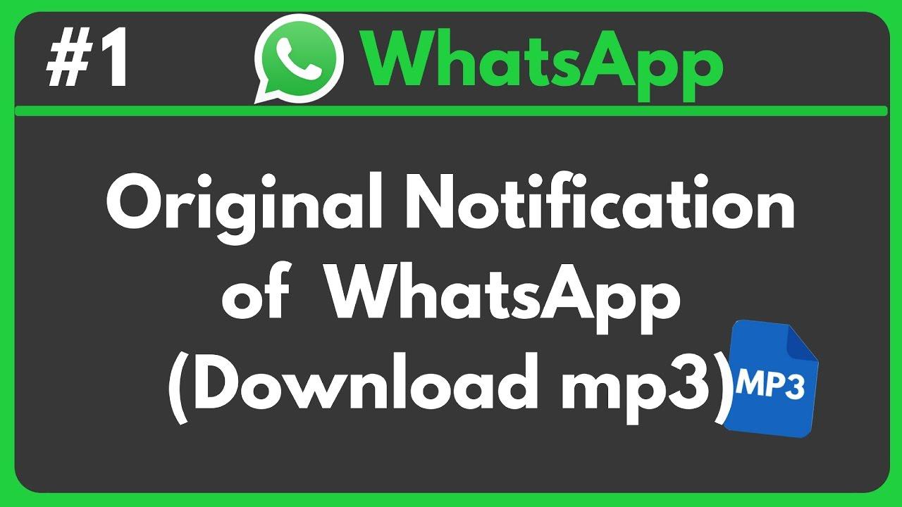 Whatsapp mp3 скачать