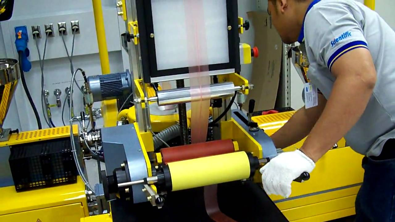 Startup of 20.20mm 20 layer Labtech Engineering Blown Film Line