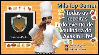 Todas As Receitas Do Evento De Culinaria Do Avakin Life Rapido Youtube