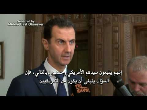 Assad tells Belgian reporter Belgium & EU merely obey 'US master' on Syria