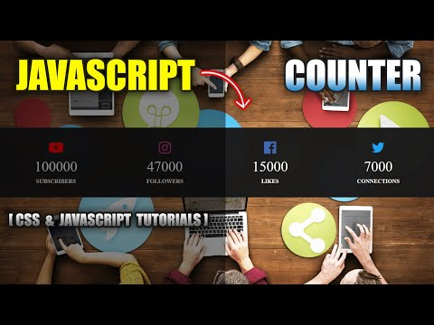Make Counters On Website Using HTML CSS Vanilla JavaScript | Create Counter Up #counter