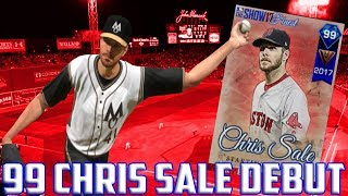 99 CHRIS SALE DEBUT - 1 WIN AWAY FROM WORLD SERIES!?  MLB The Show 17 Diamond Dynasty