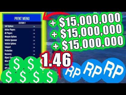 Mod Menu GTA V PC Online 1.46 PR!NT 3.2 DINERO INFINITO 15.000.000 DROP GRATUITO
