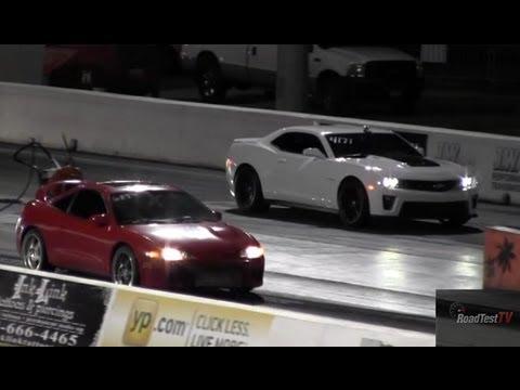 2013 Zl1 Camaro Vs Turbocharged Mitsubishi Eclipse Gsx Awd Drag Race Video Road Test Tv