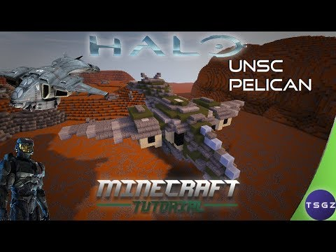How To Build A Halo UNSC Pelican In Minecraft