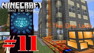 【Minecraft FTB】 Tech World 2 生存 #11 用 Buildcraft 和 Openblocks 興建企業集團總部