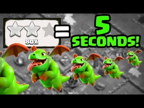 Thumbnail: 2 Stars in 5 Seconds- the TRICK! Clash of Clans Builder Hall 4 and BH5