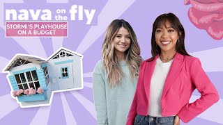'Nava on the Fly': Remaking Kylie Jenner's Playhouse for Stormi Using Cardboard with Madison Fisher