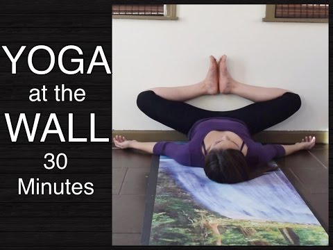 Gentle Yoga at the Wall Stretches for Lower Back, Hamstrings, Hips & Inner Thighs (30 Minutes)