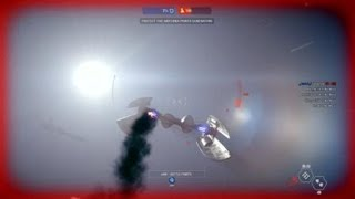 Bouncing off space station STAR WARS  Battlefront  II