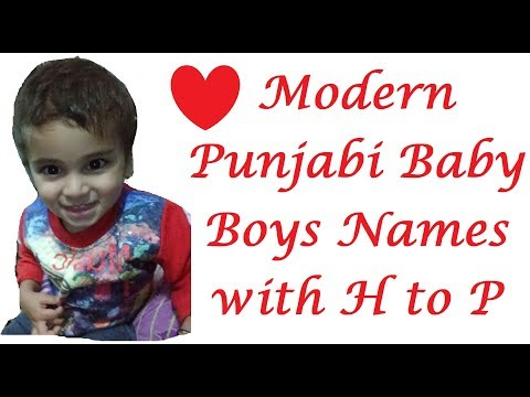 Modern baby boy names starting with h