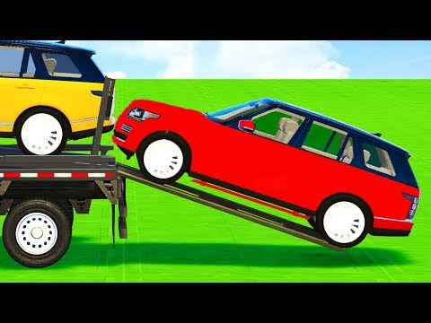 Thumbnail: COLORS OFFROAD CARS Transportation & Spiderman Cartoon for Babies w Superheroes for Kids toddlers!