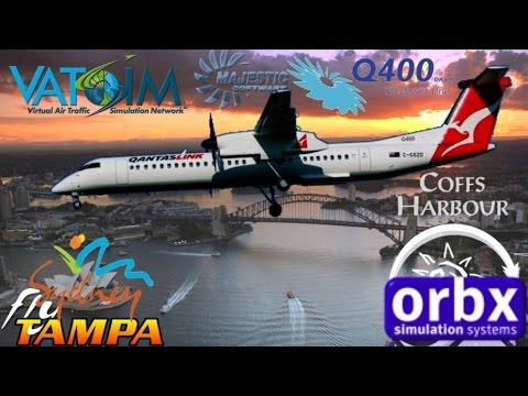 Majestic DH8D Q400 Departs Orbx Coffs Harbour For FlyTampa Sydney On Vatsim