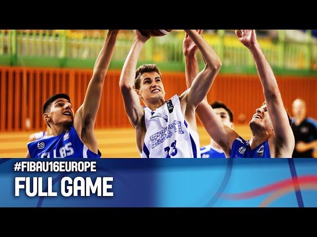 Ευρωπαϊκό Πρωτάθλημα Παίδων | Video  ΕΛΛΑΔΑ - Εσθονία 60-43 (13.08.2016) FIBA U16