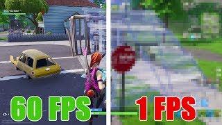 😭 Fortnite a 1 FPS y 1000 de PING 😡