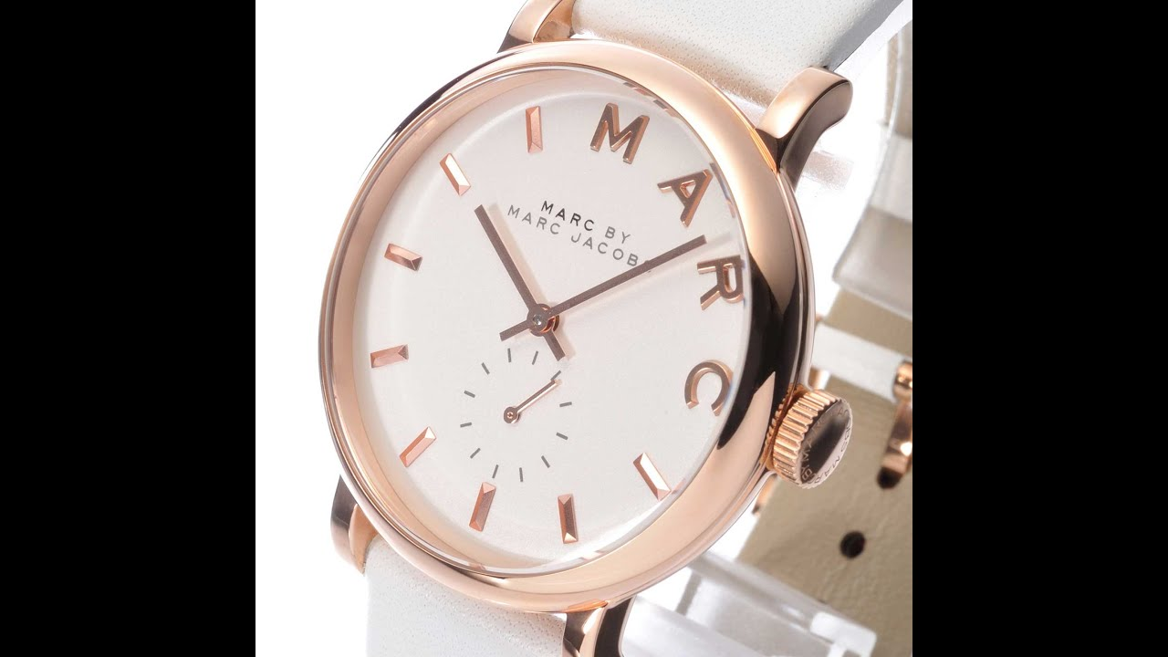 Marc By Marc Jacobs Watch Mbm1283 Baker Rose Gold White Leather