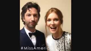 David Milchard and Darby Stanchfield will be watching Miss America 2015!