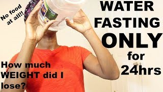 What drinking a gallon of water a day ONLY for 24hrs did to my BODY