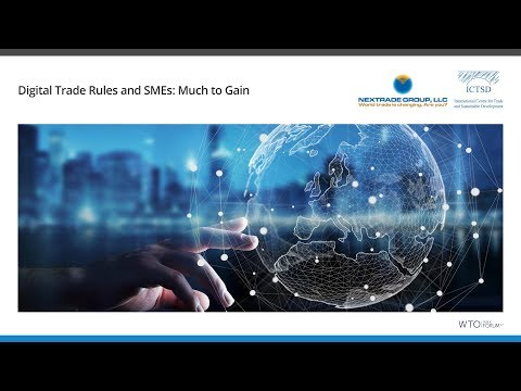 Digital Trade Rules and SMEs: Much to Gain