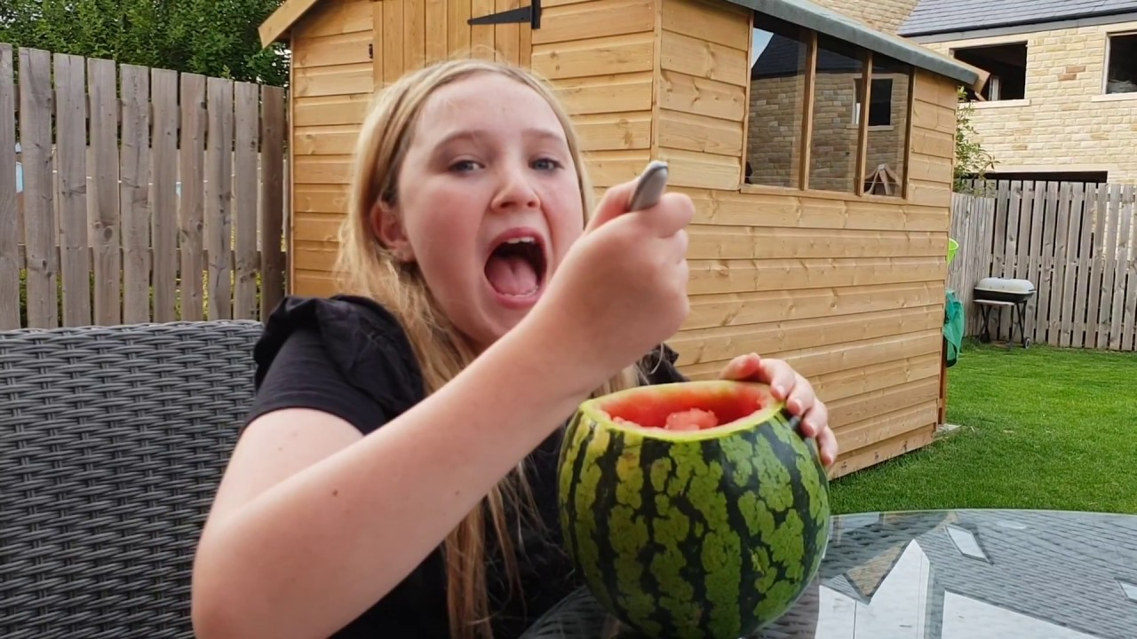 Eleanor Attempts A Watermelon Challenge Asmr Video Turns
