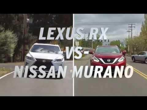 Lexus RX vs Nissan Murano AutoNation