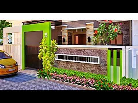 Model Pagar Tembok Rumah Terbaik Minimalis Modern - YouTube
