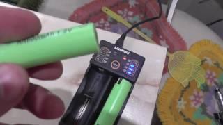 обзор зарядка на 2 аккумулятора 18650 LiitoKala lii 202 за 400 рублей с gearbest