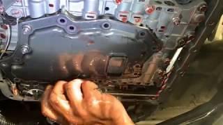 comment vidange huile boite automatique et nettoyer filtre nissan pathfinder 2.5 TDI 171 cv