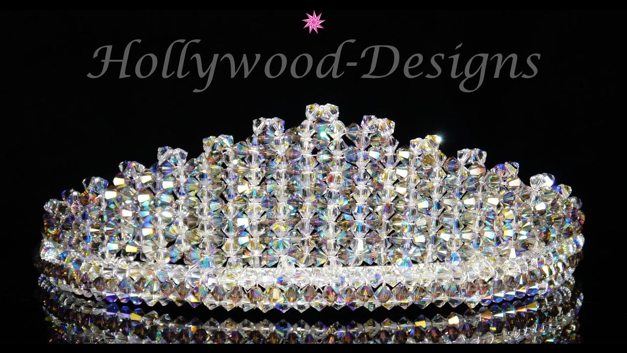7e2b8fdd8 Handmade Swarovski Crystal Bridal Wedding Tiara Regal - YouTube