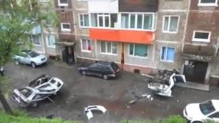ДТП.Субару врезалась в балкон на 2-м этаже