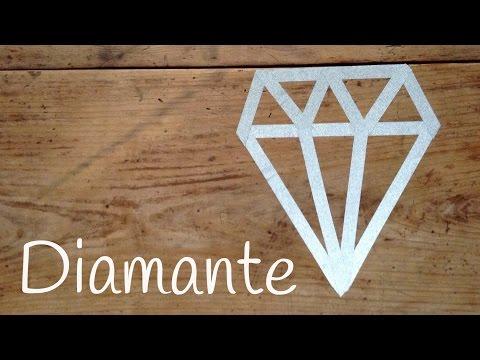 Diamante de Washi Tape para decorar fácil de hacer