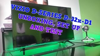 Vizio D-Series D32x-D1 Mini Unboxing, Tests, and Set Up! Cheap 32