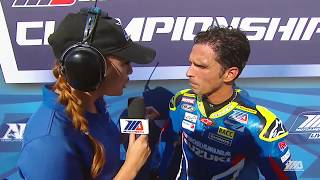 Toni Elias Interview EBC Brakes Superbike Race 2 at The MotoAmerica Championship of Alabama