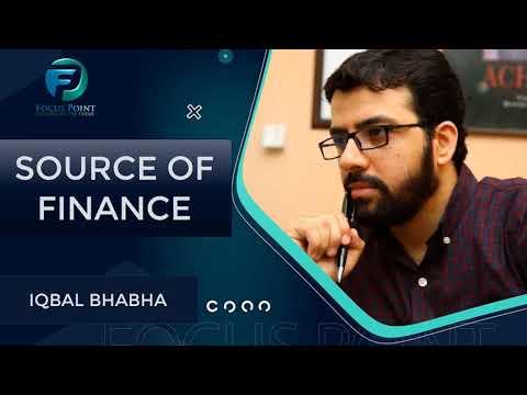 Source of Finance | Case Study of Cement Sector | Muhammad Iqbal Bhabha