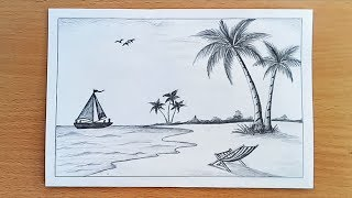 beach drawing lesson