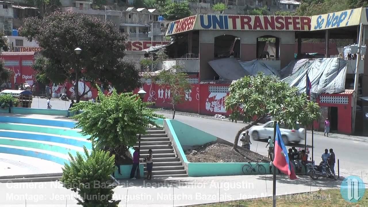 R habilitation de la place canap vert youtube for Canape vert haiti
