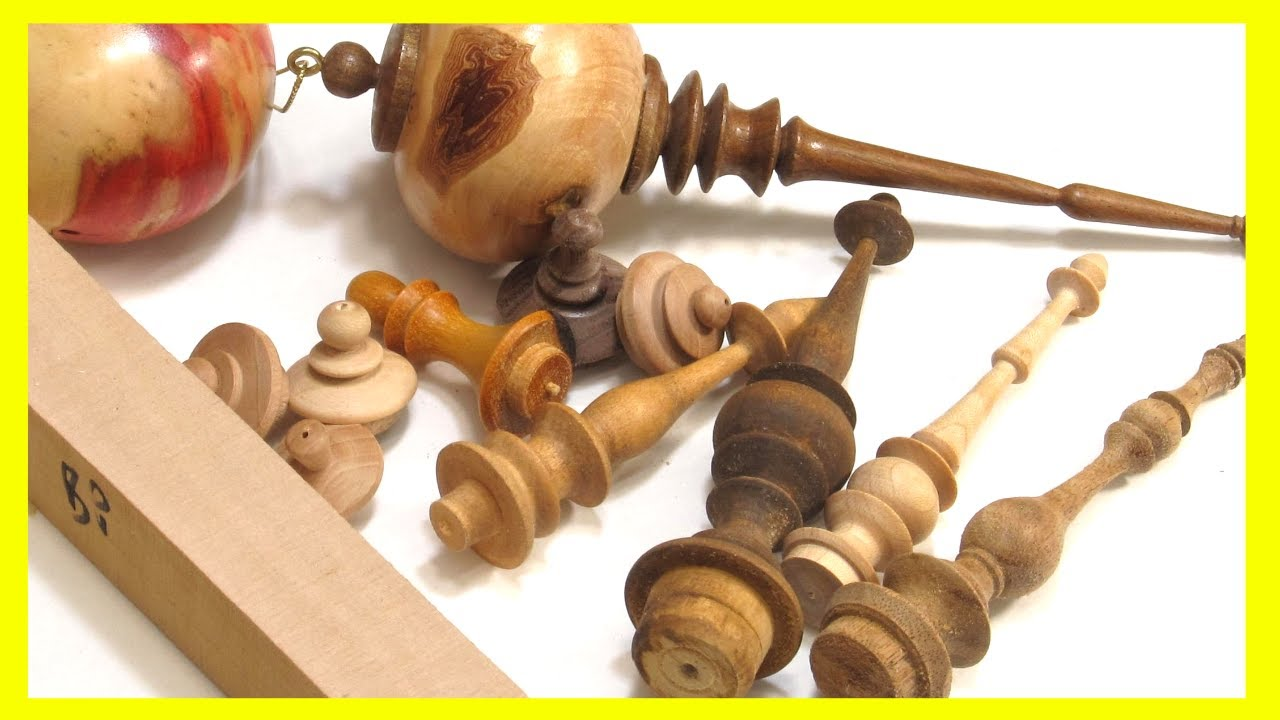 Woodturning Christmas Tree Ornament Finials - YouTube