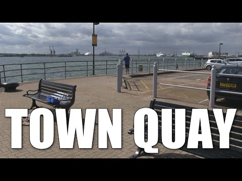 Town Quay - pier fishing mark Southampton, Hampshire, England